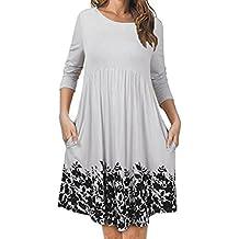 Vestidos mujer, Amlaiworld Vestido de fiesta Sexy de mujeres vestidos camiseros mujer camiseta Vestido floral
