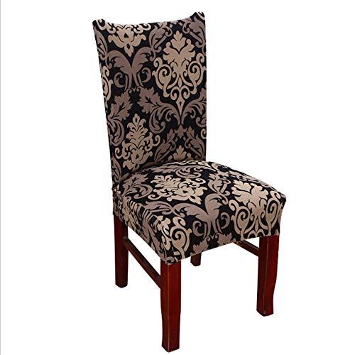 dxmhw Stuhl Set Moderne Elastische Esszimmerstuhl Set Abnehmbare Waschbar Spandex Set Hochstuhl 4/6 Stücke Stuhlabdeckung 6 Teile/Beutel Schwarz/Barock Muster - Barock Beutel