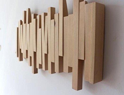 Kleiderablage ZCJB Kreative Haken Up Wand Kleidung Haken Mode Wand Mantel Rack Einfache Eingang Mantel Holz Massivholz Kleiderbügel Kleiderständer (Farbe : Style 2)