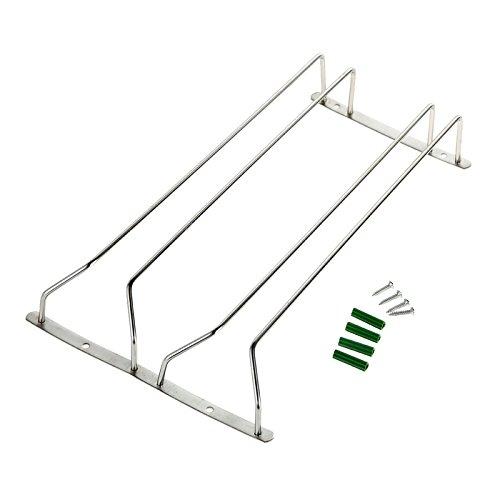 Chinatere ES03 Soporte de copas accesorio para alacena para ahorrar espacio en tu cocina(Dos filas)