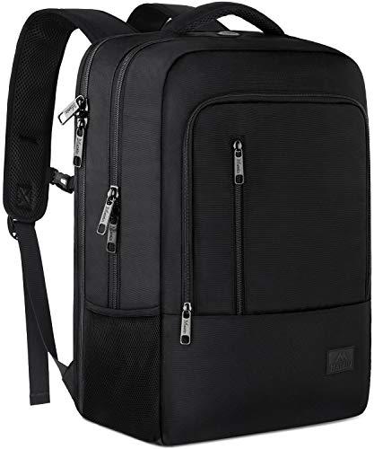 MATEIN Zaino per Laptop Uomo Donna, Zaino Business Grande per Uomo Donna Zaino Impermeabile TSA Daypack Compatibile con Porta di Ricarica USB per Scuola di Lavoro Campus all'aperto e Viaggi - Nero