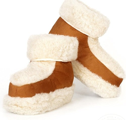 Alwero Snowy's Wool & Pantofole stivaletti da uomo in pelle scamosciata Gray