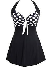 TDOLAH Femme Maillot de bain Push Up Rembourré Amincissant Bikini Style Robe Tankini Grande Taille Beachwear