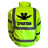 Spartan Kids Hi Vis Yellow Bomber Jacket, Reflective High Visibility Safety Childs Coat, By Brook Hi Vis