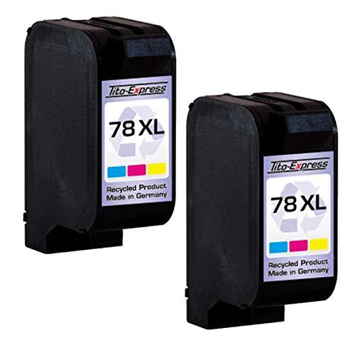 PlatinumSerie 2 Patronen kompatibel für HP 78 XL | Color je 42ml XXL-Inhalt - Die Hp Factory