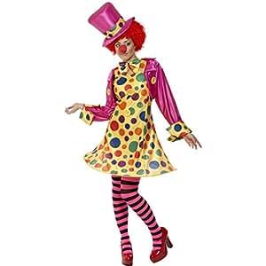 Robe de clown costume de clown pour femme multicolore Taille L 44/46 déguisement de femme clown costume de clown femme clown robe de clown déguisement clown