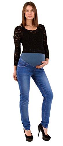 by-tex Damen Jeans Schwangerschaftshose Umstandshose Jeans für Schwangerschaft Maternity Hose Jeans J296