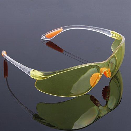 huiouer Schutzbrille Schutzbrille Augenschutz Schutzbrille Schutzbrille Schutzbrille Reithose Vented Glasses Arbeitslabor Dental gelb