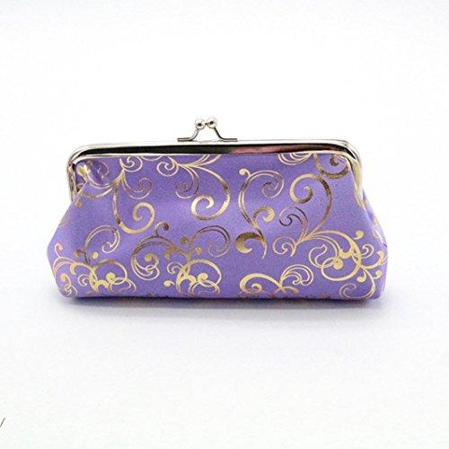 Amlaiworld Womens kleine Brieftasche Karte Halter Münze Geldbörse Clutch Handtasche Tasche (lila) (Lila Creme Make Up)