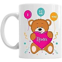 Nana Gift, I Love You, Birthday Mug, Teddy Design, Gift Idea, Keepsake or Present