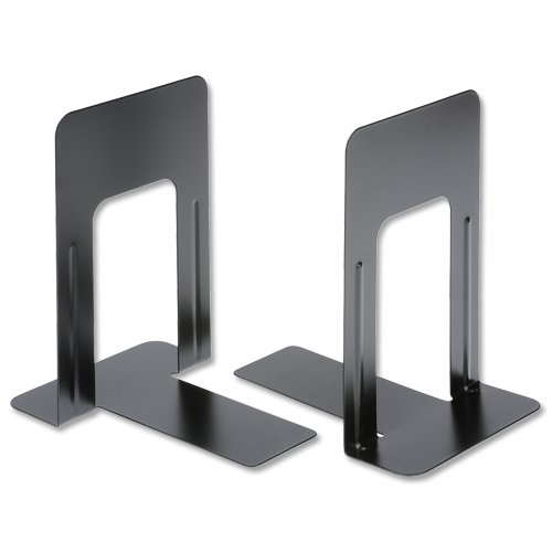 5-star-office-book-ends-metal-heavy-duty-229mm-black-pack-2