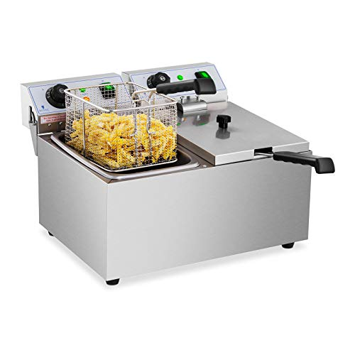 Royal Catering Freidora Electrica Profesional Doble