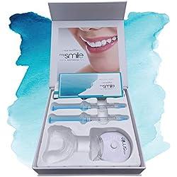 KIT DE BLANCHIMENT DENTAIRE Professionnel mysmile | Pour blanchir ses dents RAPIDEMENT | Dents blanches | Riche en Bicarbonate de soude contre les dents jaunes | Enlève la décoloration et les dépôts