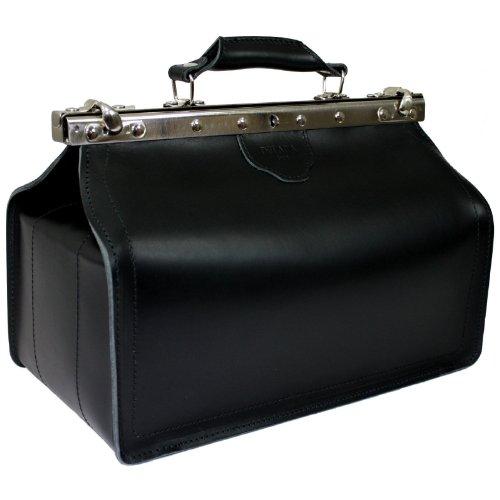 DELARA Arzttasche aus schwarzem Leder - Made in Germany (Arzt Schwarz Tasche)