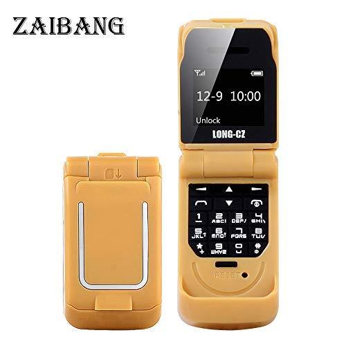 Long CZ J9 Das kleinste Blutooth-Telefon Mini-Flip-Telefon 2G GSM-Kunststoff-Geschenk Voice Changer 3 in 1 Bluetooth-Headset Dialer 18g -