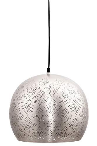 MAADES Orientalische Lampe Pendelleuchte Rayhana 30cm Silber E27 Lampenfassung | Marokkanische Design Hängeleuchte Leuchte | Orient Lampen für Wohnzimmer, Küche oder Hängend über den Esstisch (Wie Aqu)
