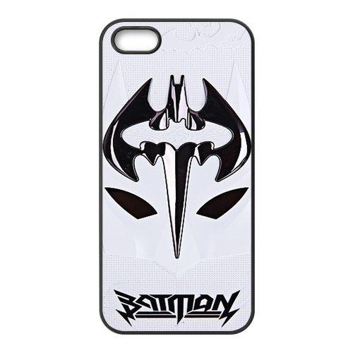 Apple iPhone 5/iPhone 5S Case Coque de protection Case-Batman TPU Étui Coque de Protection pour iPhone 55S (Blanc/Noir)