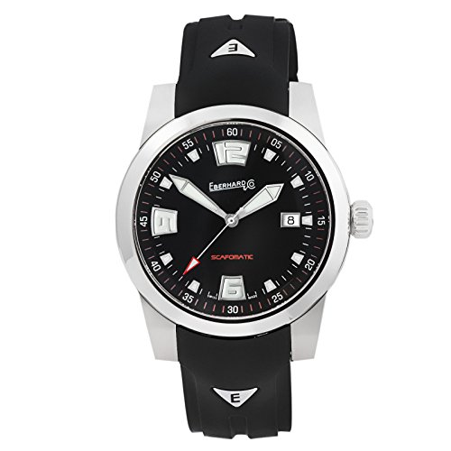 Montre Automatique Eberhard Scafomatic, SW 200-1, 42mm, 5 atm, Noir, 41026.2.CA