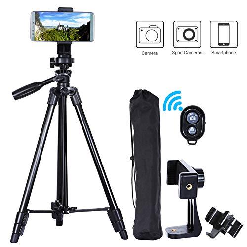 MACTREM Treppiedi Cellulare Treppiede Fotocamera Smartphone 118 Alluminio Leggero Cavalletto per Cellulare iPhone Samsung Huawei Reflex Gopro con