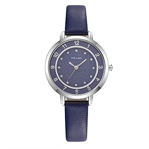 Armbanduhr Frauen Lederarmband, Paticess Damen Uhren Lederband Strass Zifferblatt Mode Klassische Damenuhr Geschenk für Frauen Mädchen