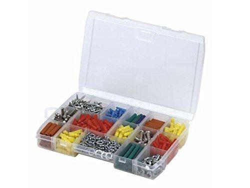 Stanley Organizer (mit 11 Fächern, transparent, zwei verschiedene Fächergrößen, 21x3,5x11,5, für Kleinteile) 1-92-888 (Werkzeug-organizer Storage Box)