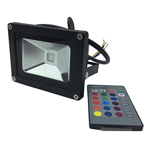 YXH® 10W Proyector RGB LED, Foco Cambio de color Ac 85-240V,LED Luz...
