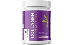 Collagene Idrolizzato Polvere. Proteine di Mucca 100% Naturale Insapore Per Uomo e Donna. Certificato halal e kosher. Prodotto in Svezia. Polvere molto solubile di NutriZing
