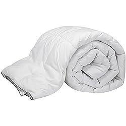 Pikolin Home - Relleno nórdico, edredón natural de plumón de oca 96%, funda 100% algodón de percal, 220 gr/m², 135 x 200 cm, cama 80 (Todas las medidas)