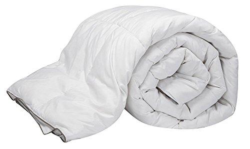 Pikolin Home - Relleno nórdico / edredón de plumón de oca 96%, funda 100% algodón de percal, 220 gr/m², 260 x 240 cm, cama 180