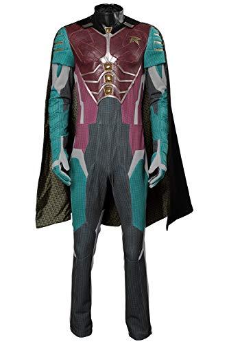 MingoTor Dick Grayson Robin Nightwing Teen Titans Outfit Cosplay Kostüm Herren XS