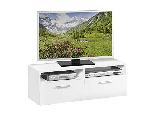 TV-Lowboard Fernsehschrank Fernsehtisch | Dekor | Weiß | 95x35x36 cm