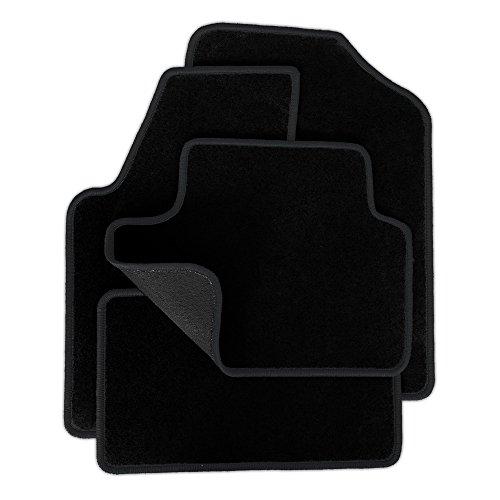 Preisvergleich Produktbild Eight Tec Handelsagentur V300ET_31417 Passgenaue Velours-Fußmatten Schwarz und Rand in Anthrazit - Fahrzeugtyp in der Artikelbeschreibung beachten!
