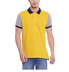 Yepme Men's Yellow Cotton Polos - YPMPOLO0493_XXL