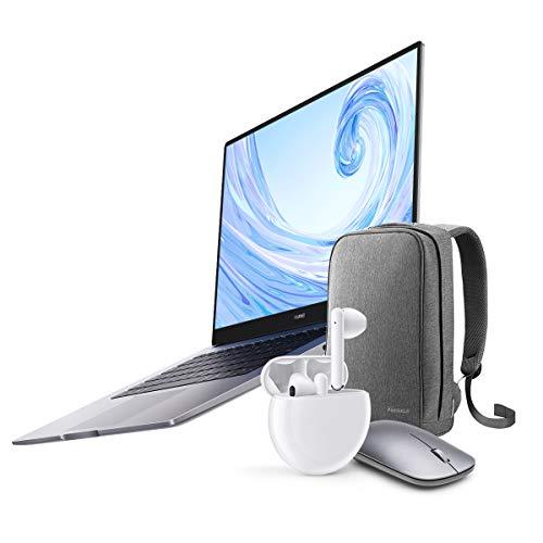 Huawei MateBook D 15 - Ordenador Portátil de 15.6' FullHD (AMD Ryzen 5 3500U, 8GB RAM, 256GB SSD, Colaboración multipantalla, Windows 10 Home) Mystic Silver + Freebuds 3 + Mochila + ratón inalámbrico
