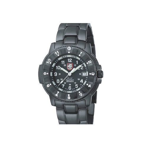 Luminox LU3402 - Reloj para Hombres, Correa de Acero Inoxidable Color Negro