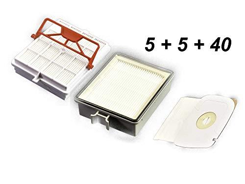 5 Hygiene-Carbon-Filter + 5 Abluftfilter + 40 Staubsaugerbeutel geeignet LUX Intelligence