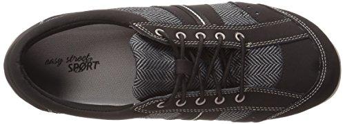 Easy Street Emma Cuir Chaussure de Marche Black-Herringbone