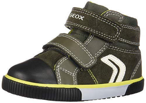 Geox Baby Jungen B Kilwi Boy C Sneaker, Grün (Forest/Lime C3256), 24 EU (Braune Jungen Sneaker)