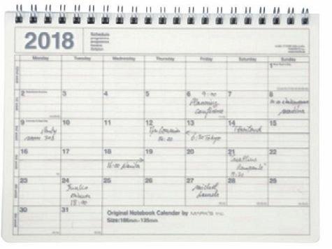 MARK'S 2018 Tischkalender S // Ivory