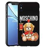 Qi-Tian Moschimo Roman Teddy Bear iPhone X/XS Custodia, Moschimo Logo Custodia Cover per iPhone X/XS Nero