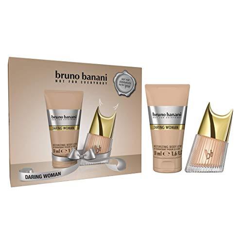 bruno banani Daring Woman Geschenkset - Sinnliches Eau de Toilette und Body Lotion mit süßem Duft - Für die mutige Frau - 1 x 20 ml & 1 x 50 ml