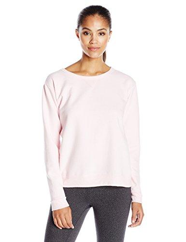 Hanes - T-shirt de sport - Manches Longues - Femme rose pâle