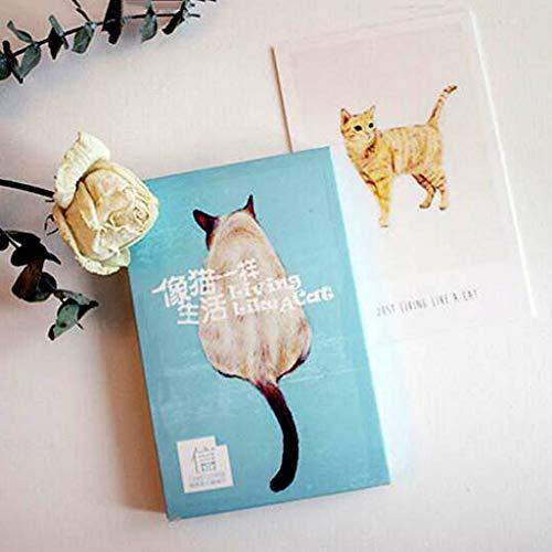 eratur der Abschlusskarte der Karte der Katze 30 Weihnachtsgrußkarte ()