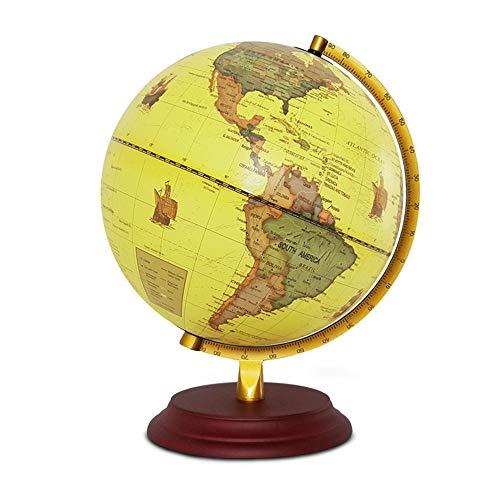 Sunbobo Rotación de la Tierra Completa Geografía Educativa Teaching Globe Pure English 25CM Middle School Students Lámpara de Mesa de decoración LED de enseñanza Especial para niños y Adultos
