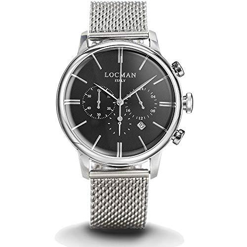 Montre chronographe Homme Locman 1960Casual Cod. 0254a01a-00bknkb0