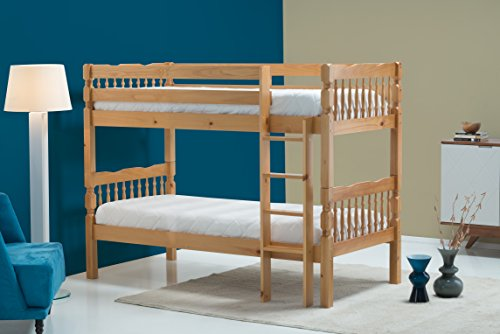 Birlea Weston Bunk Bed - Solid Pine, Oak, Single