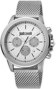 Just Cavalli Young Silver Dial Stainless Steel Analog Watch For Men JC1G140M0055
