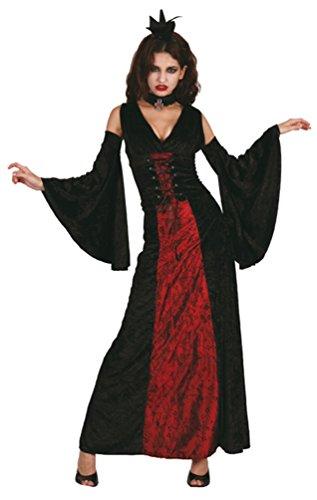 Karneval Klamotten Vampir Kostüm Damen sexy Vampir-kostüm Gothic Braut Kostüm Halloween Damenkostüm (Machen Kostüm Braut Gothic)
