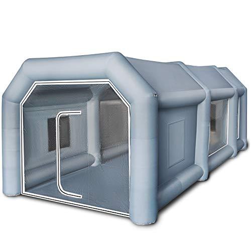 GIOEVO Tenda di Vernice Gonfiabile della Cabina di Spruzzo dell'automobile Tenda Gonfiabile Portatile per Auto (6 x 3 x 2,5 m)