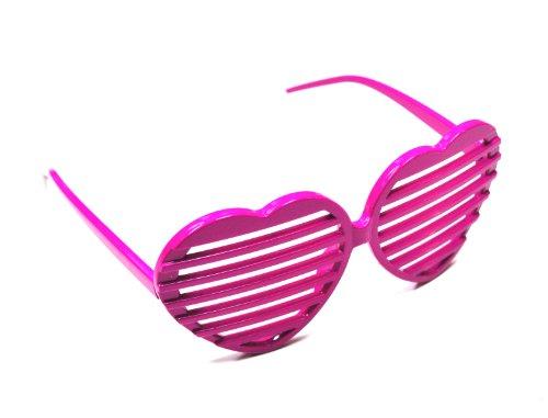 We Show Pride Rosa Herzen Verschluss Schattierungen Spaß Neuheit Kunststoff Party Sonnenbrille (20er Pack)